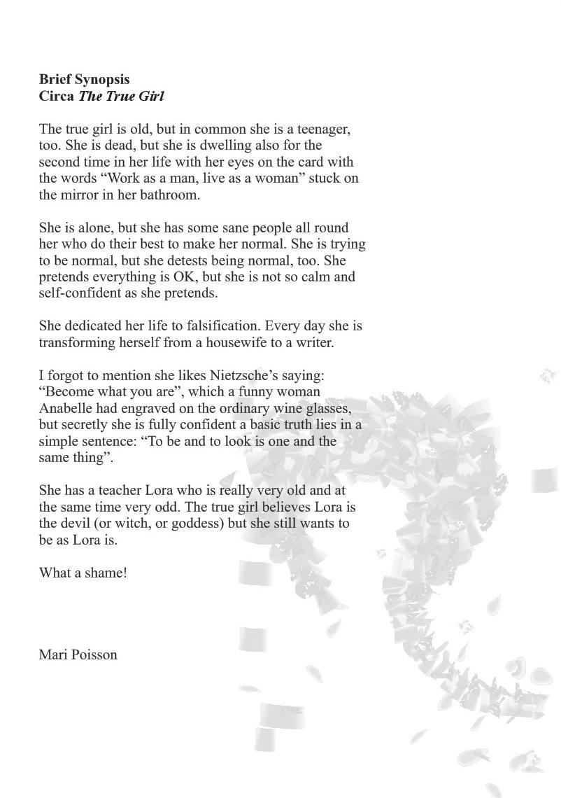 "Apie Mari Poisson noveliu romana ""Tikra mergaite"""